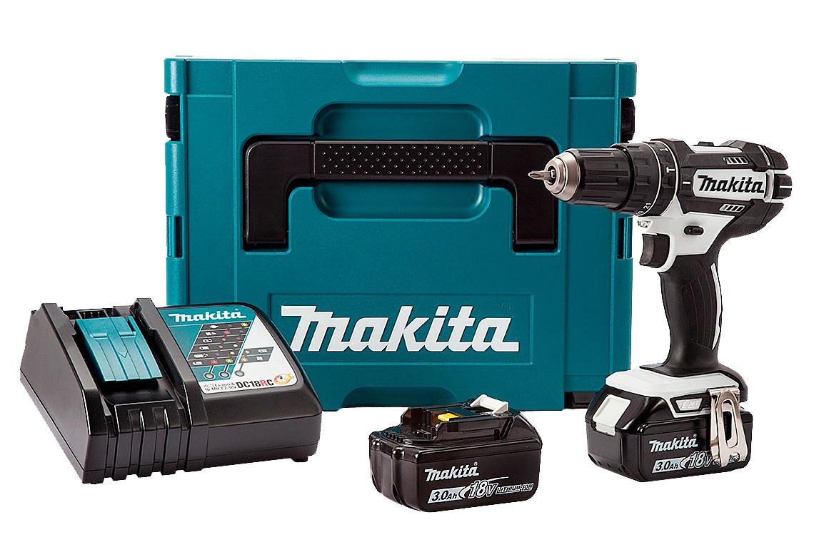 Makita 18V Combi c/w 2 x 3ah Li-ion Batteries