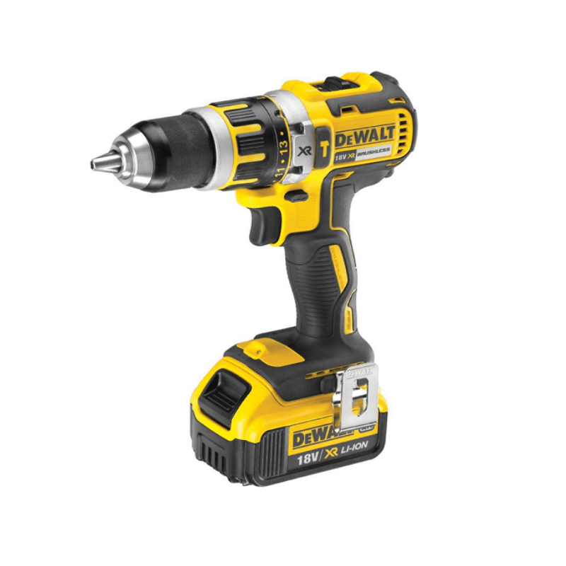 DeWalt DCD795M 18V XR Brushless Compct Combi Drill C/W 1 x 4ah Li-ion Battery, Charger & Kitbox.