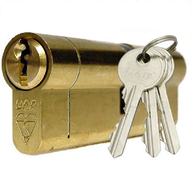 Citysafe Double Brass Euro Cylinder 80mm 40/40