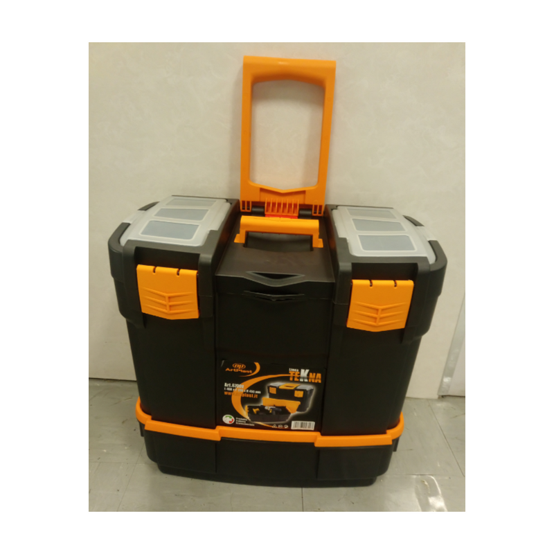 Toolbox (W)460 x (D)280 x (H) 455mm  (2 Organizers On the Cover +Tray + Power Tool Compartment)