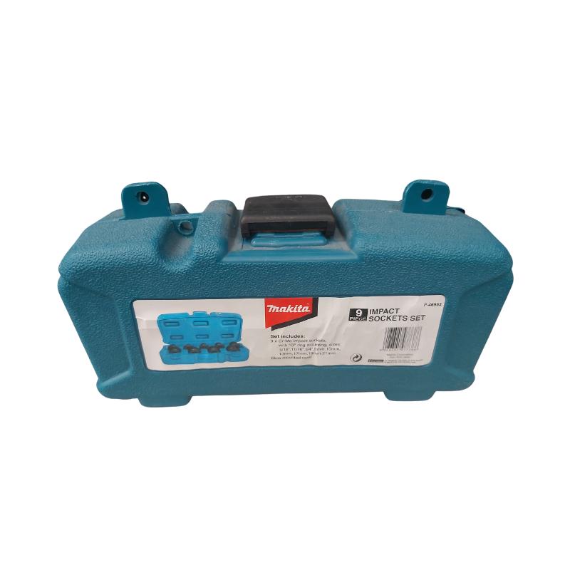 "Makita 9pc Impact Socket Set incl Carry Case  (5/16"" - 21mm)"