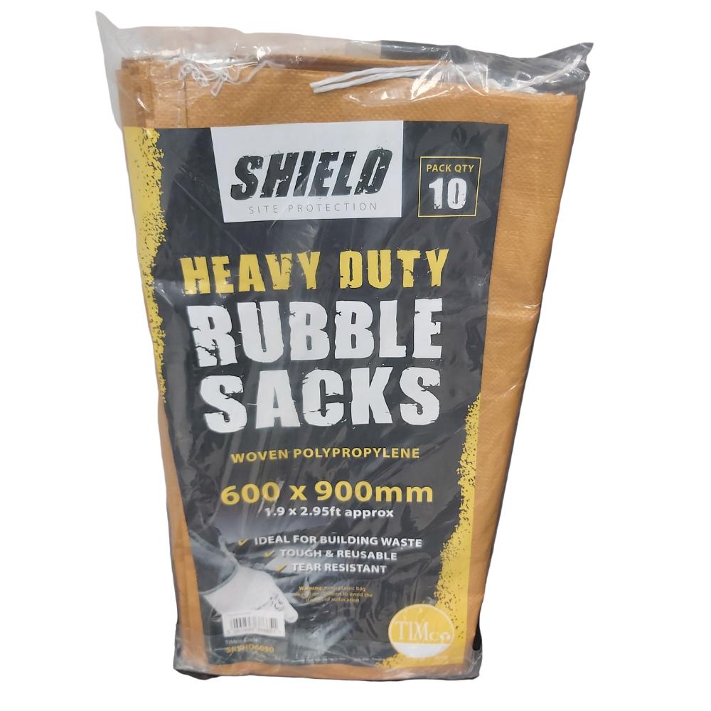 Shield Heavy Duty Woven Rubble Sacks 600x900mm  (10 Pack)