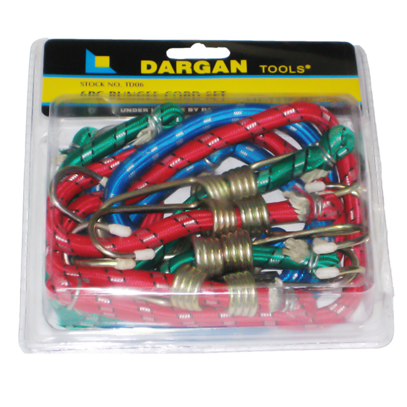 6 Pce Bungee Cord Set
