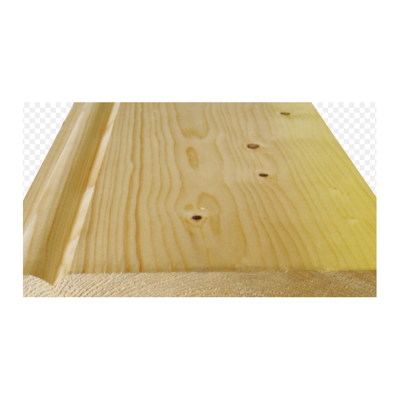 125 x 22mm White Deal Skirting Moulded Silkwood