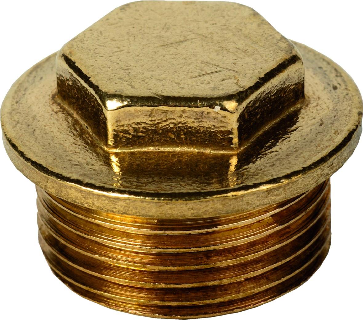 """074 1"""" M.I Brass Plug"""