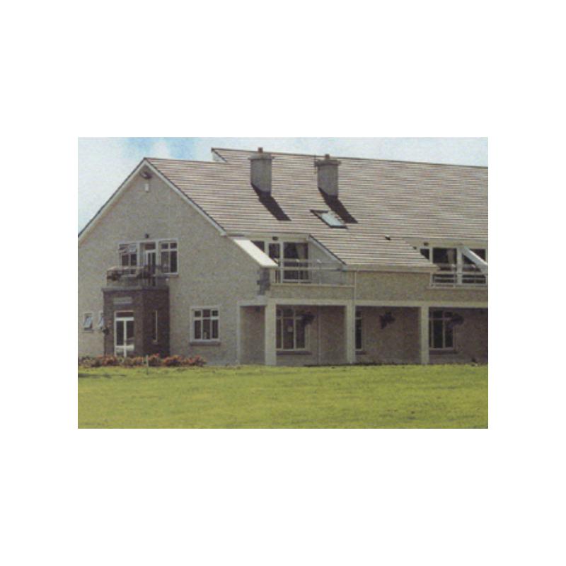 Concrete Bullnose Slate Tile 420x330mm Black