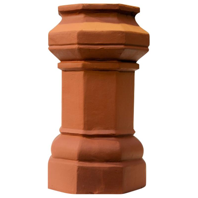 Chimney Pot 600mm Octagon Terracotta Colour