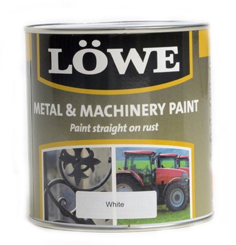 Lowe Metal & Machinery Paint White 2.5ltr