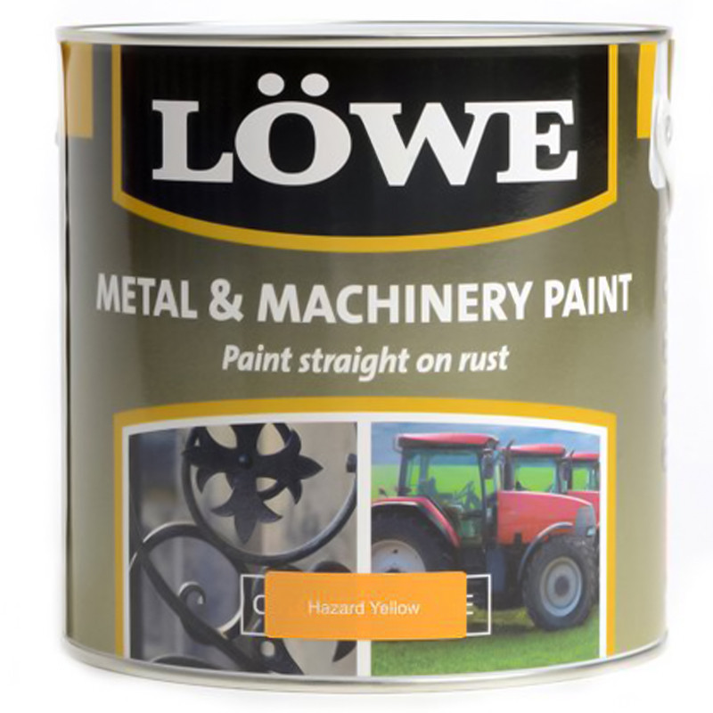 Lowe Metal & Machinery Paint Yellow 500ml