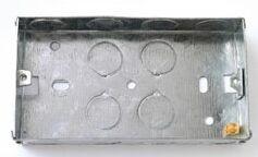 2 Gang Metal Socket Box