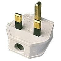 3 PIN 13 Amp Black Rubberised Plug Top