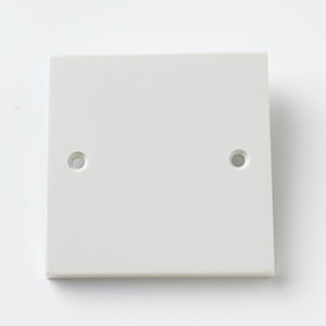 1 Gang Blank Plate White