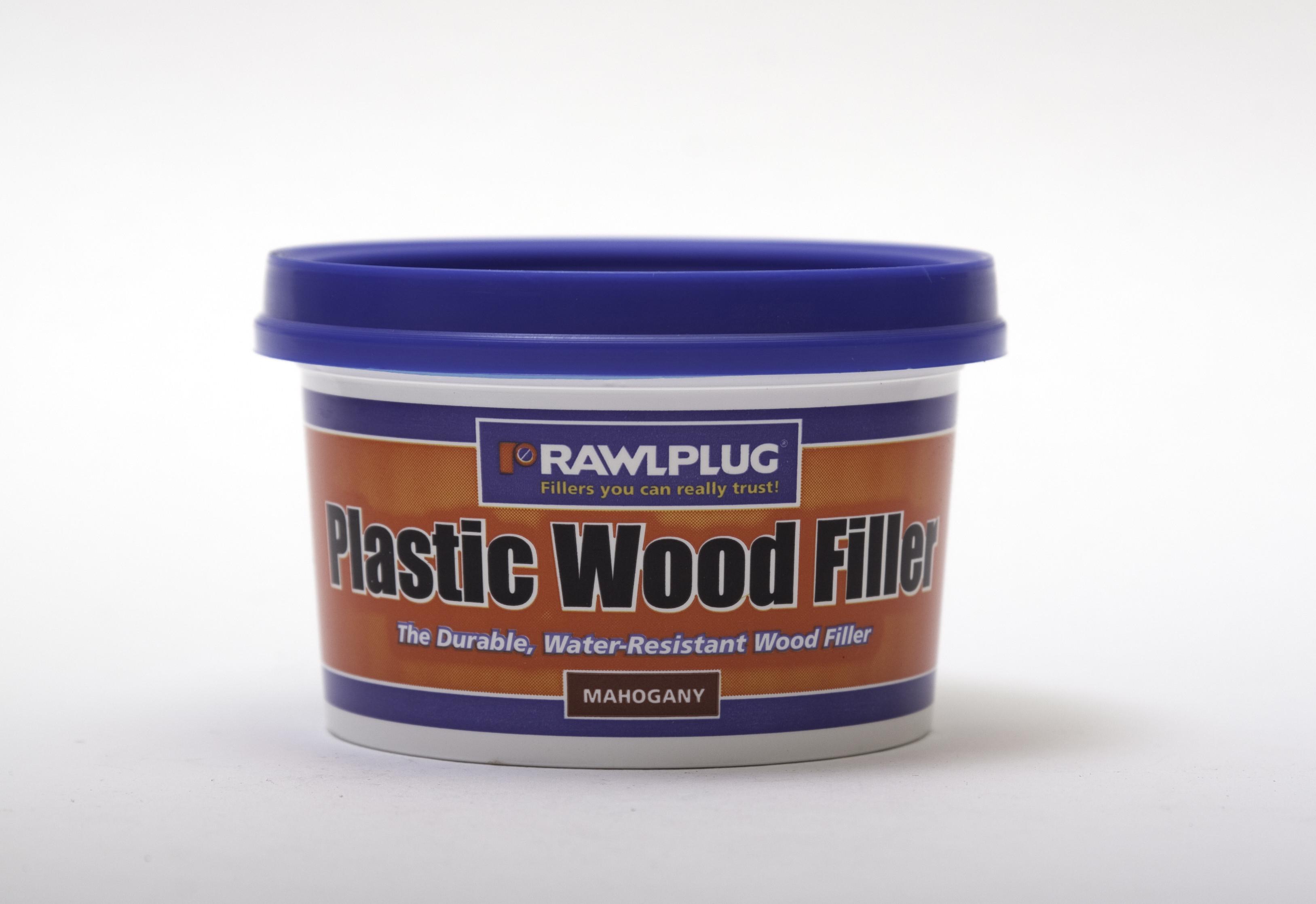 Rawlplug Plastic Wood Filler 250ml Mahogany