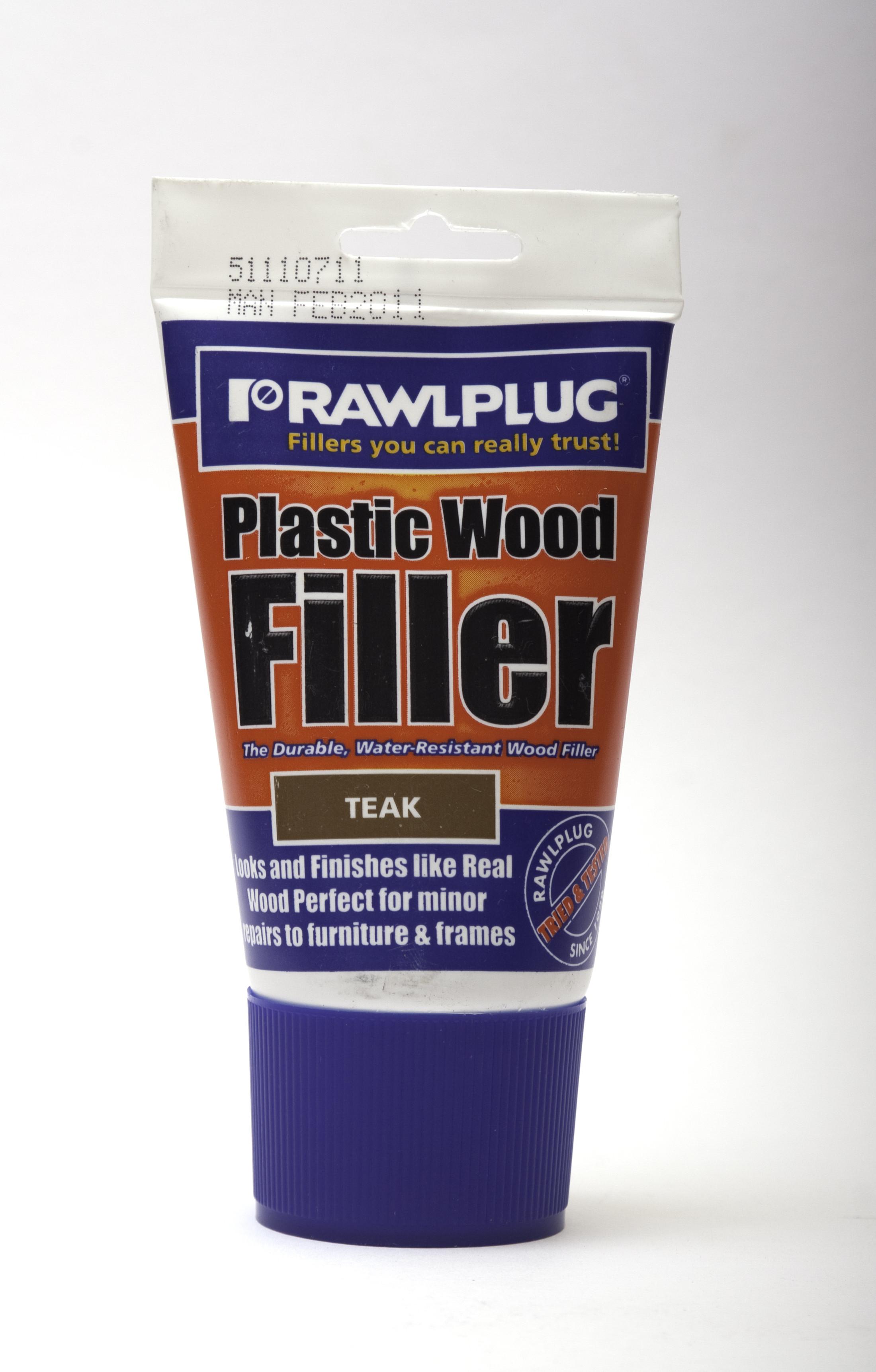 Rawlplug Plastic Wood Filler 100ml Teak