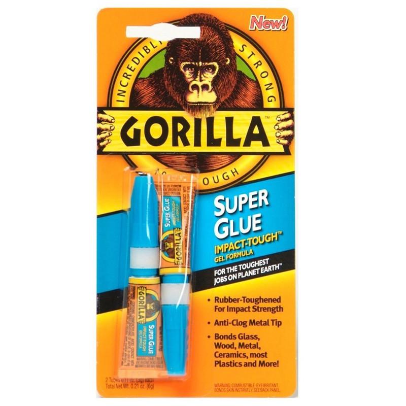 Gorilla Superglue Twin Pack 3g