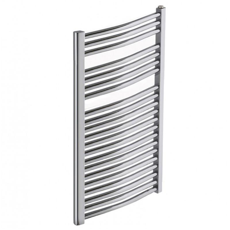 Heated Towel Rail Chrome Curved 1200x500