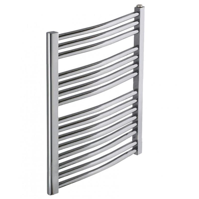 Heated Towel Rail Chrome Curved 800x600
