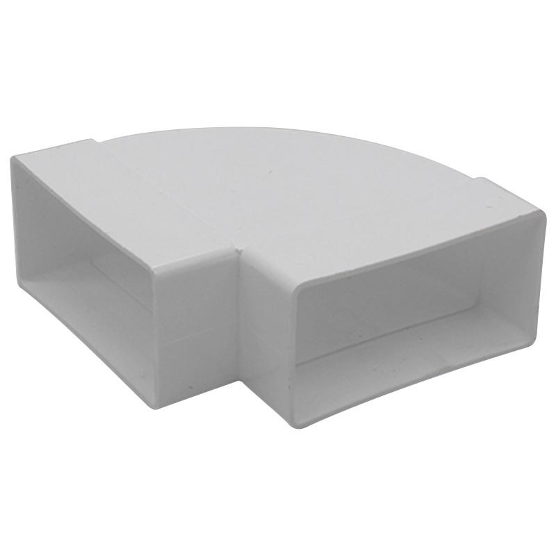 Flat Channel Horizontal Bend 90 Degree 100 x 50mm White