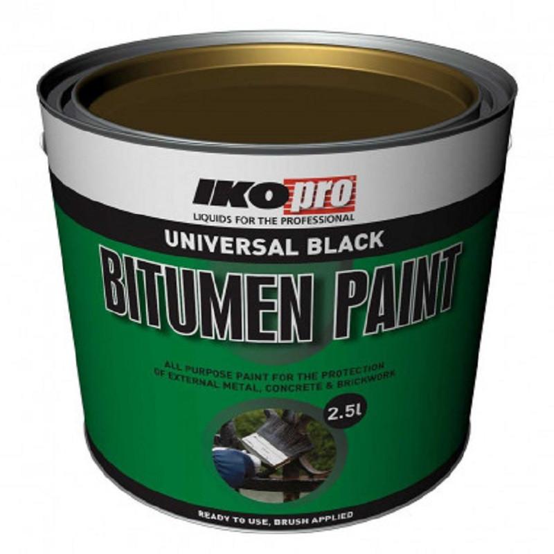 Iko-Pro Black Bitumen Paint 2.5Ltr