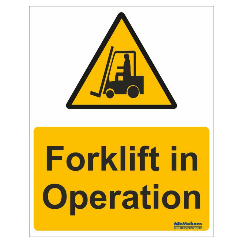 DANGER forklifts in operation sign