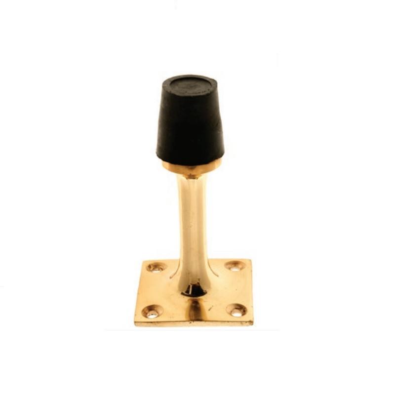 Pedestal Door Stop 75mm Brass