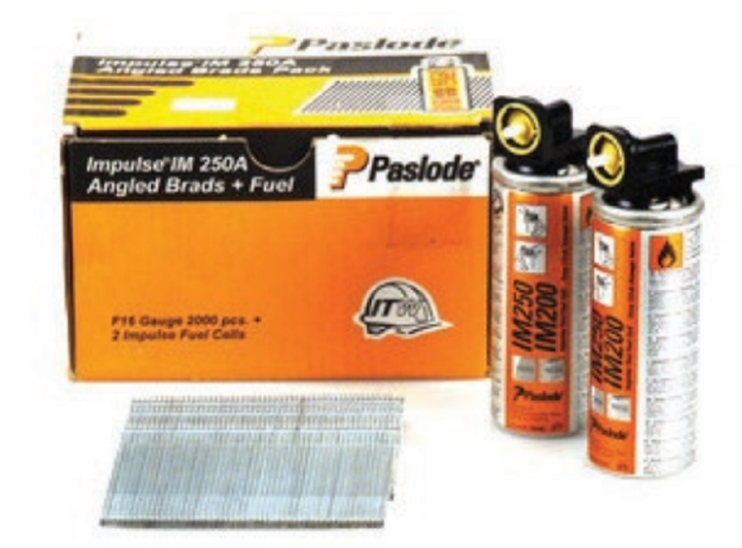 Paslode Angled Brad F16x63mm Galvanised (2000+2Cells)