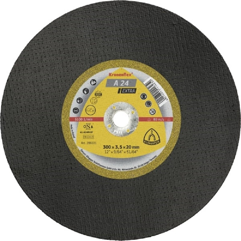 Steel Cutting Disc A24 Extra 300x3.5x20mm Flat (For Consaw)