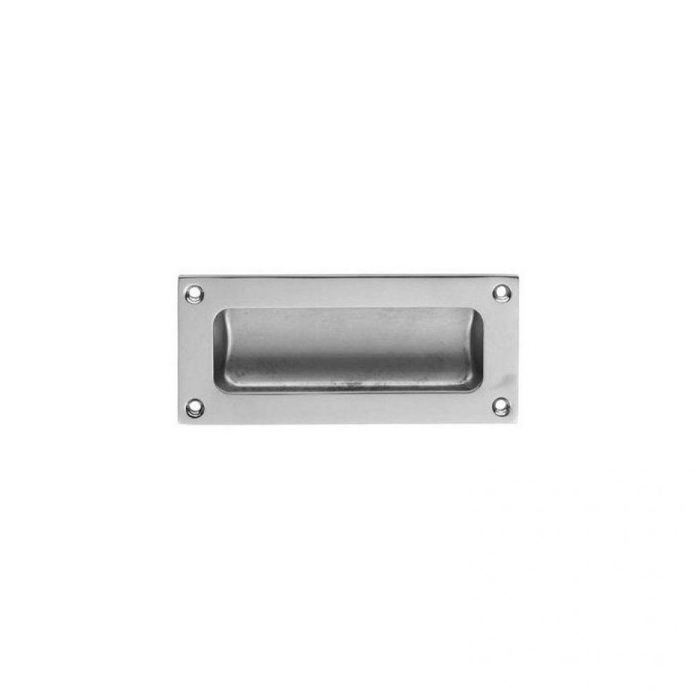 Flush Pull Satin Chrome 102 x 45mm