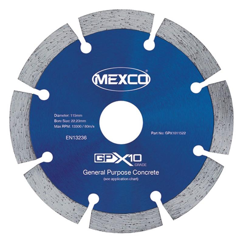 MEXCO 115mm Concrete X10 Grade