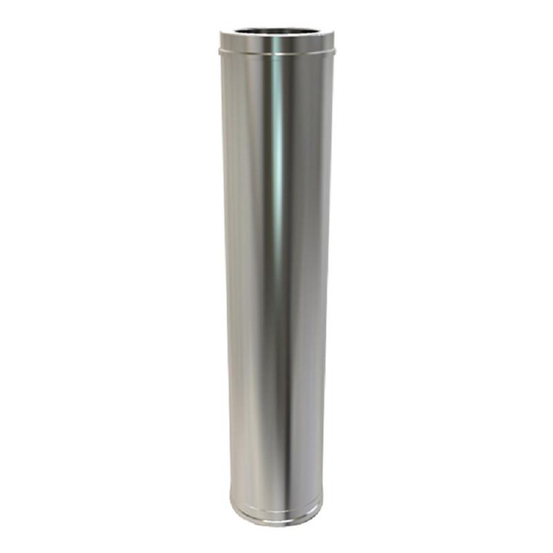 Pellet Twin Wall 1000mm Pipe 80mm