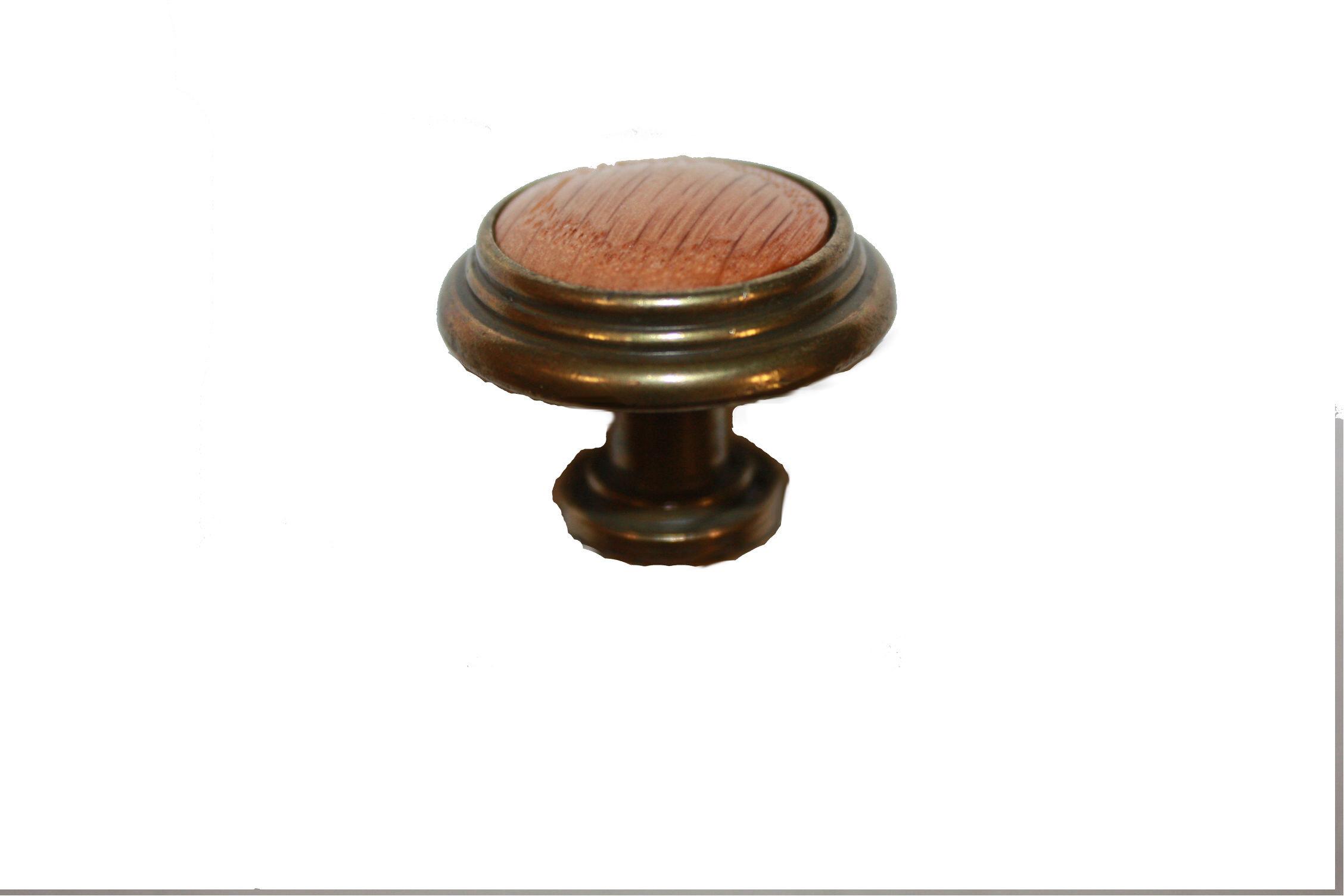 Cabinet Knob with Oak Insert H38P