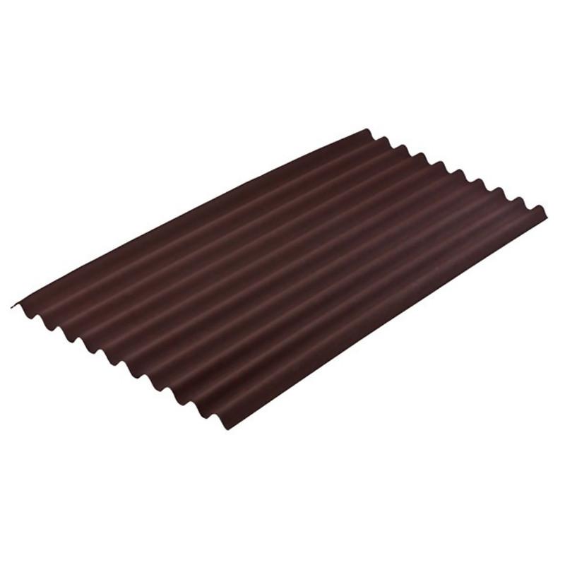 Onduline Standard Brown Sheet 2.0Mt Long x 0.95Mt (1.9mt x 0.855mt Cover)