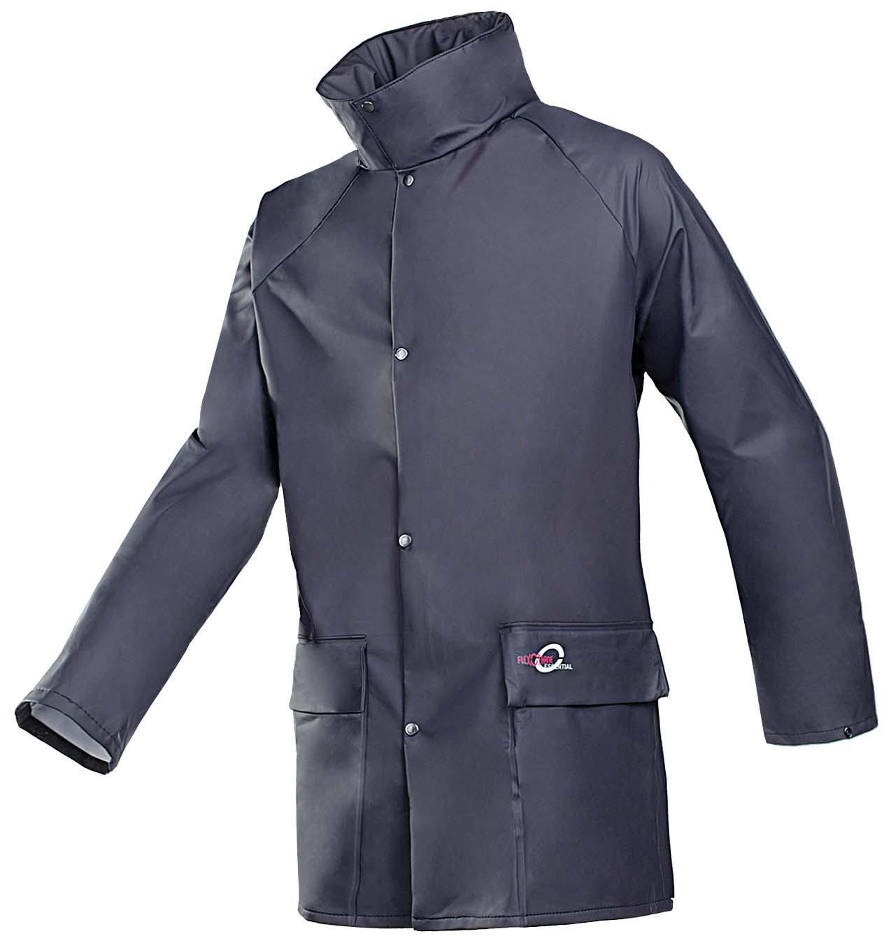 Jacket Navy Flexothane  (L) 4145 Bagged Sioen (Breathable Rain Jacket)