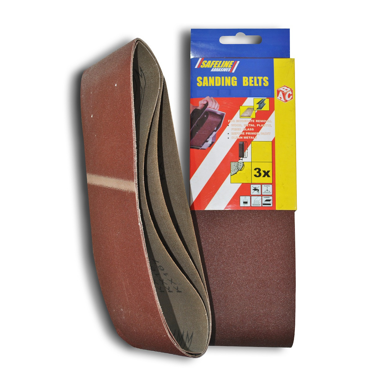 Sanding Belts 75x533mm Assorted (3)
