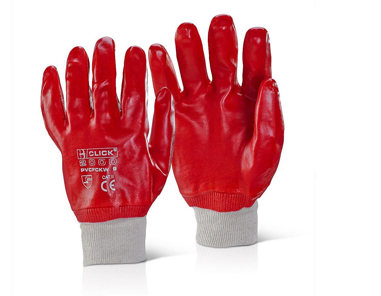 PVC Knitwrist Glove L (Pair)