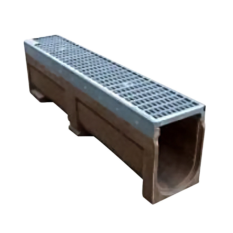 Polypropylene Channel  c/w C250 Cast Iron Grating 1Mtr   (Bolts +Bars Included)