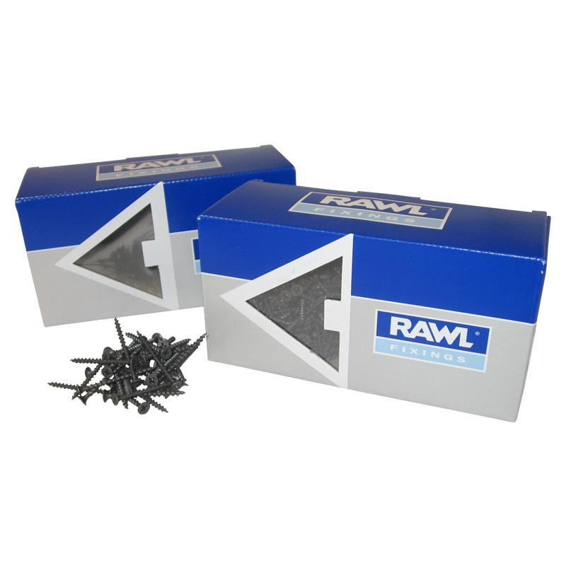 Rawl Trade Coarse Thread Drywall Screws 25mm (180pcs)