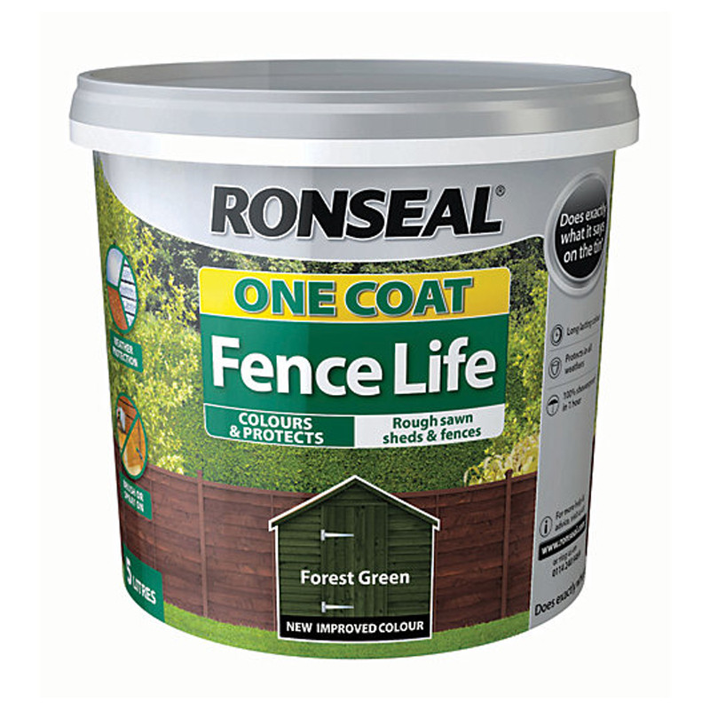 Ronseal One Coat Fencelife 5L Forest Green