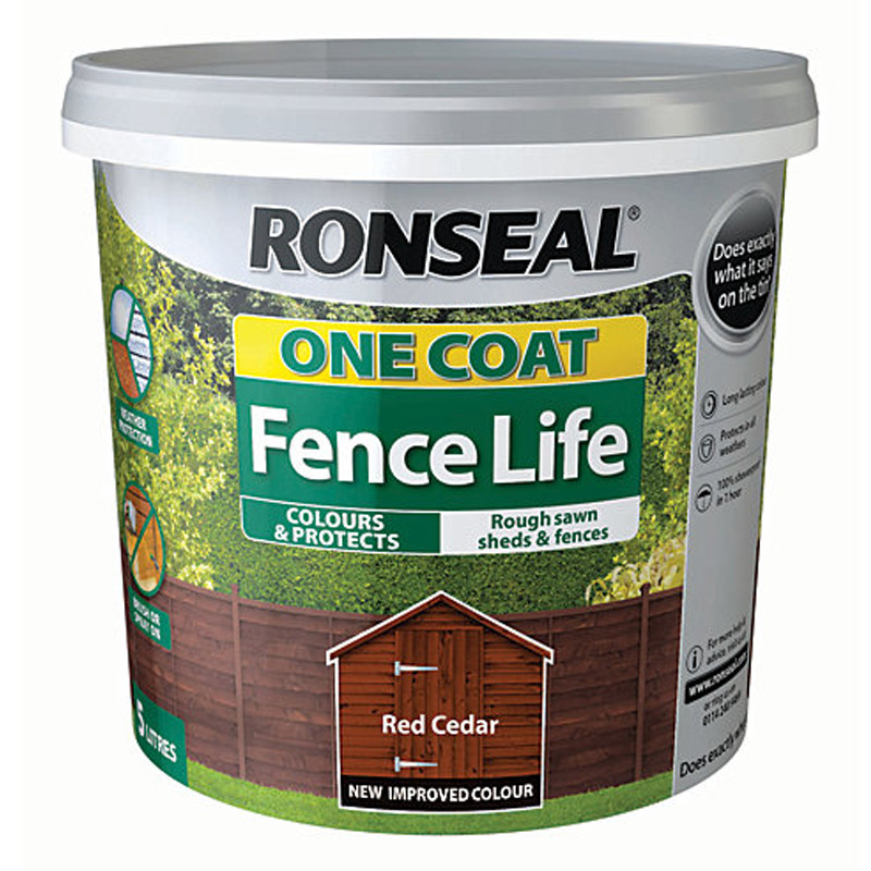 Ronseal One Coat Fencelife 5L Red Cedar