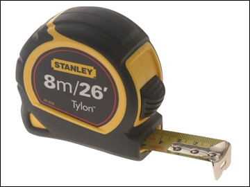 Stanley 8m/26ft Tylon Dual Lock Tape