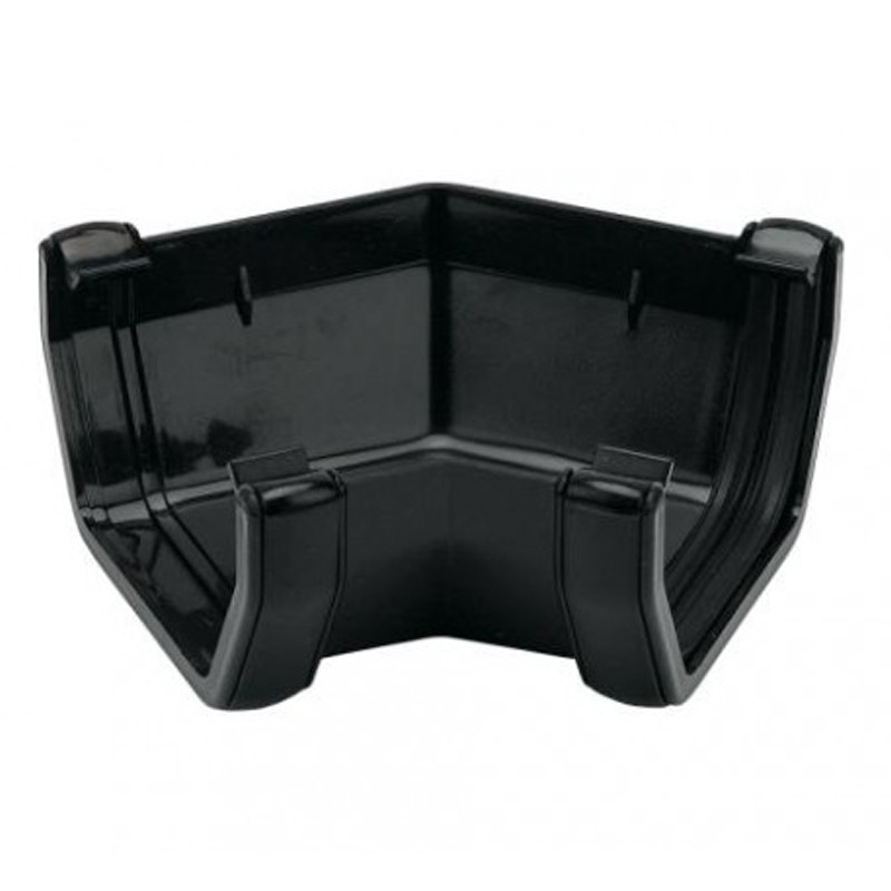 Square Gutter Angle 135 Degree Black