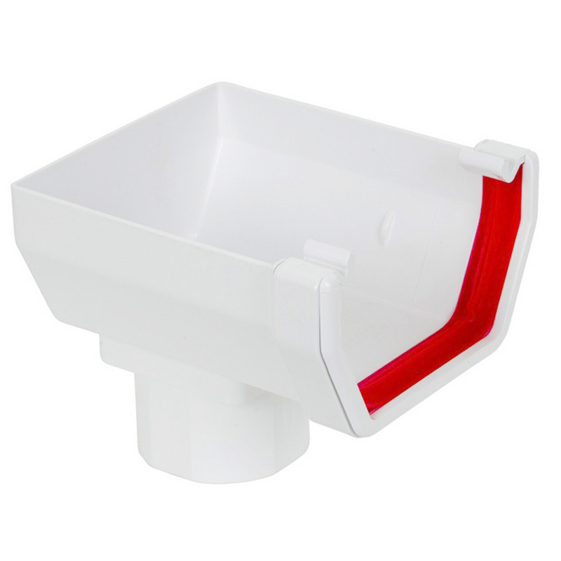 Square Stopend Outlet White