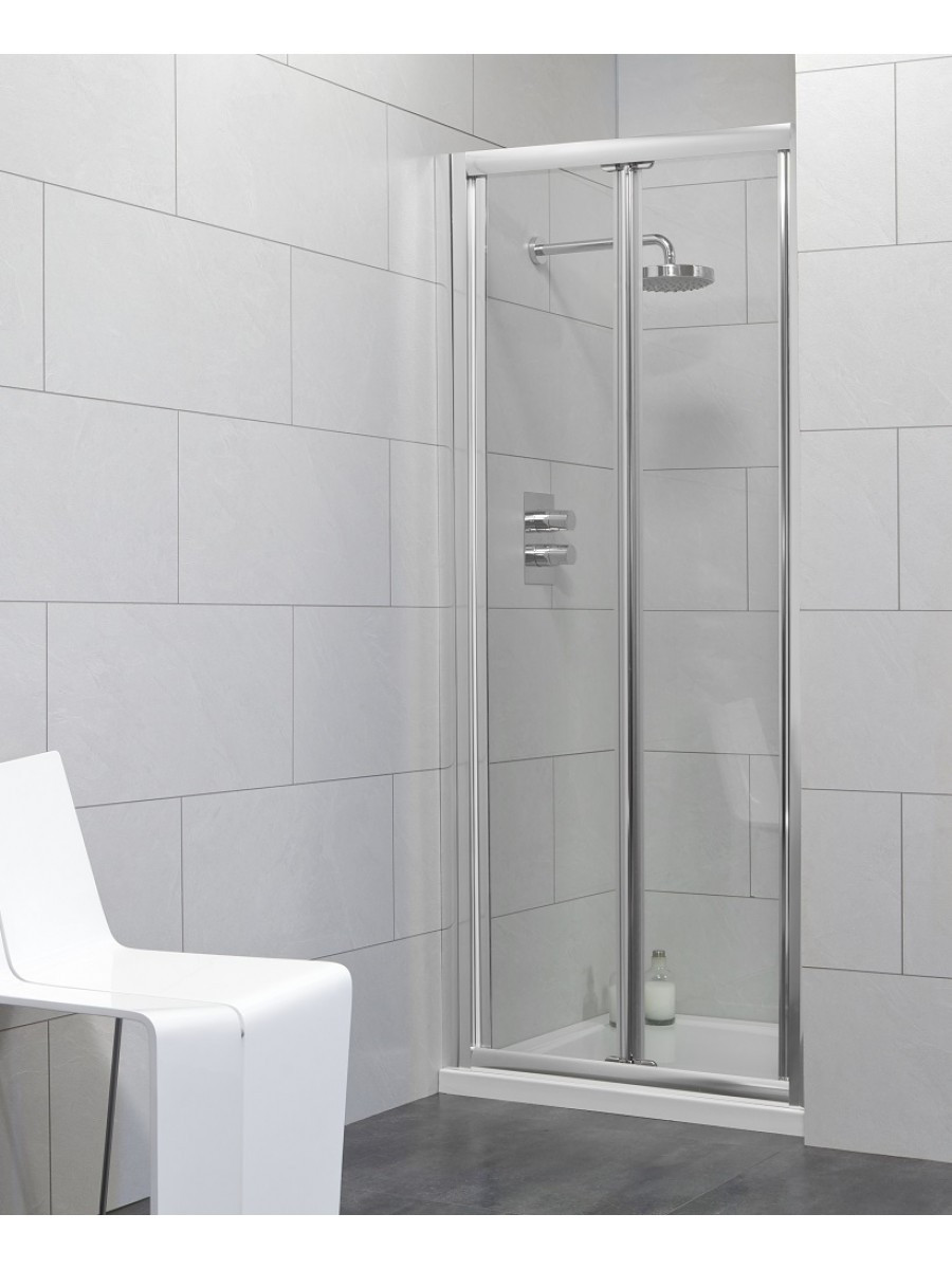 Usher City Chrome Bifold 900 Shower Door 840-890