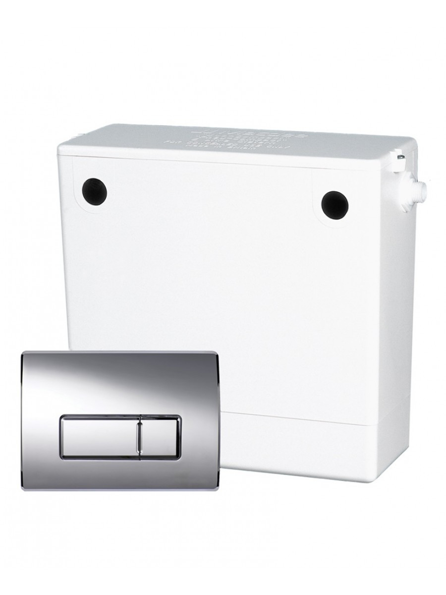 Concealed Cistern C/W Dual Flush Plate