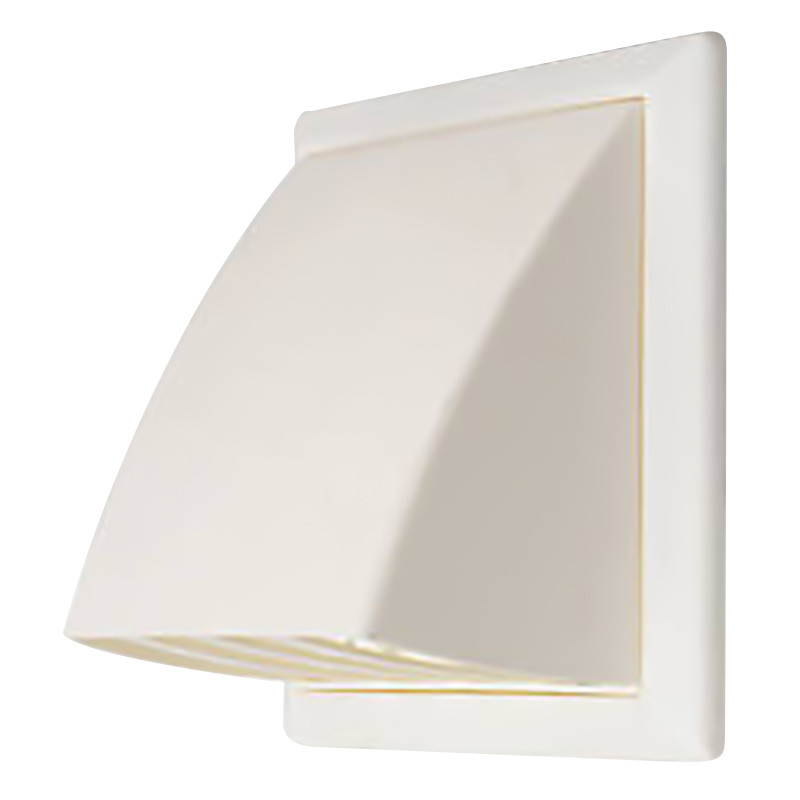 Wall Vent with Cowl 100mm White