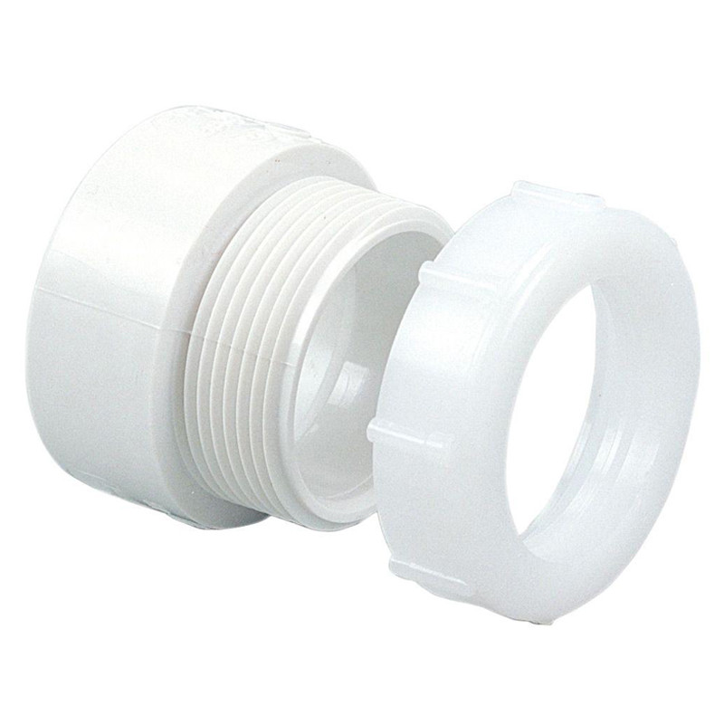 """Waste Compression 1 1/2"""" Coupling (Nut & Ring)"""