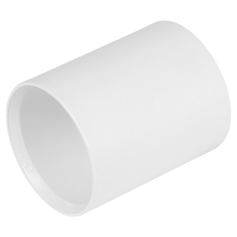 Waste Straight Connector 50mm White