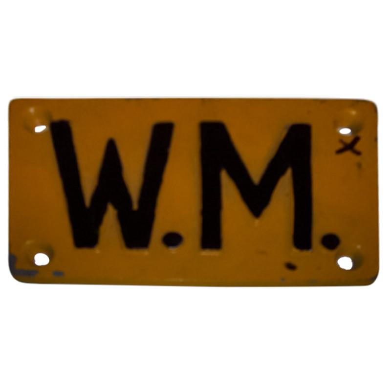 Water Meter Marker Plate