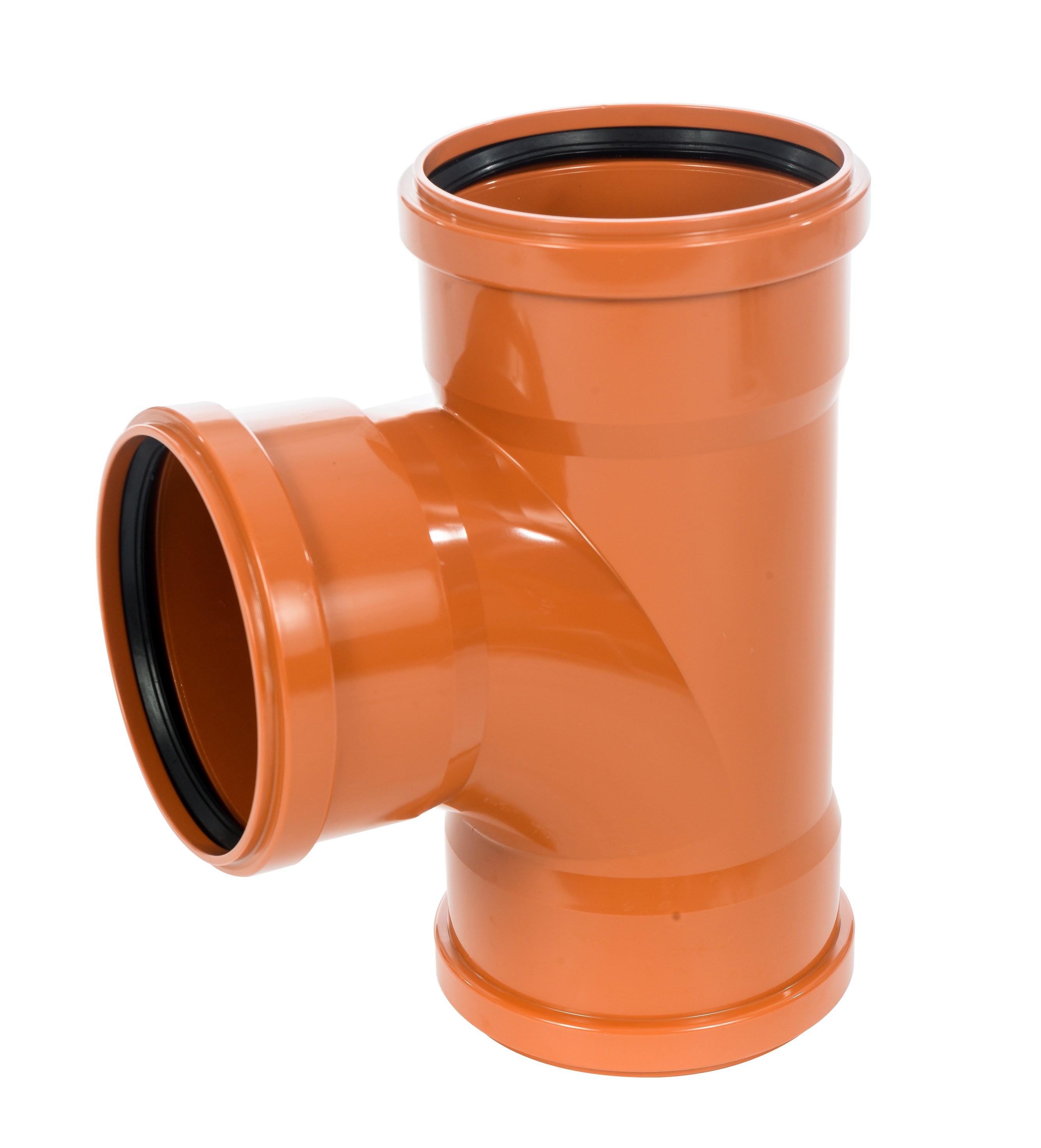 Sewer T 90 degreeree Triple Socket 225x110mm