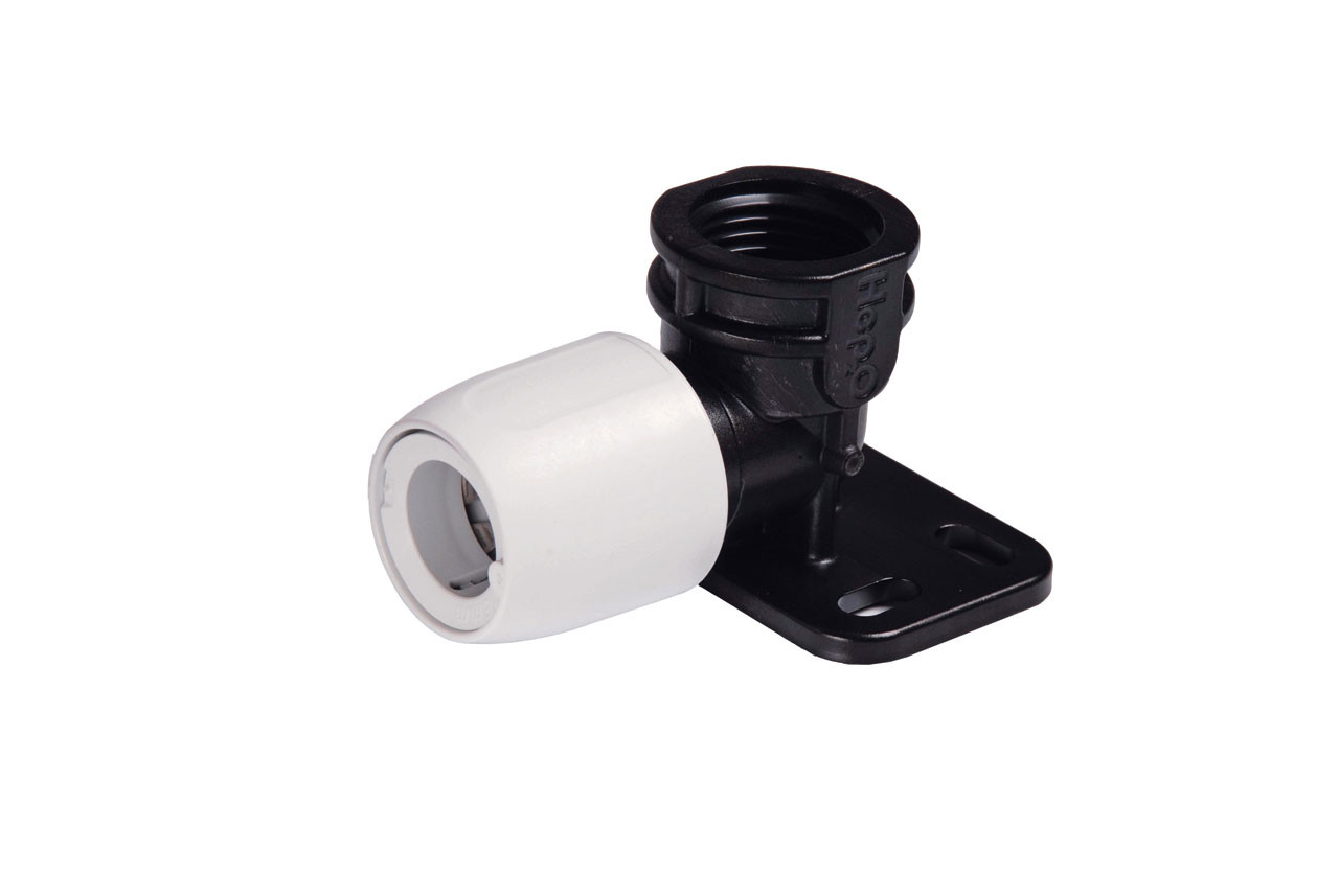 Wall Plate Elbow-Black 1/2iBSP x 15mm